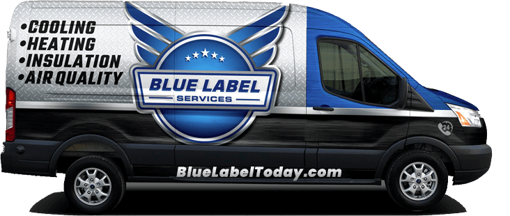 Blue label Services van